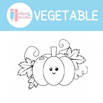 Vegetable Clip art Set