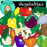Vegetable Clipart (Color and B&W) {MissClipArt}