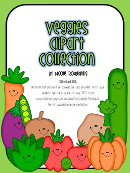 Vegetable Clipart - Commercial & Personal Use