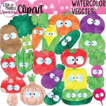 Vegetable Clipart Watercolor