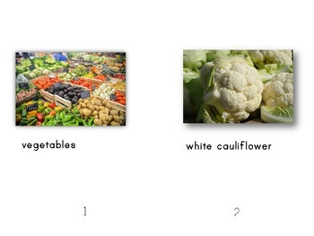 Fruit & Vegetable Colors Nonfiction Differentiated Guided Reading and Response