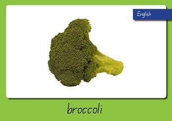 Vegetable Displays in English