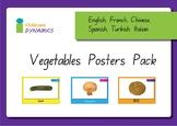 Vegetable Displays in Multiple Languages