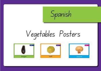 Vegetable Displays in Spanish