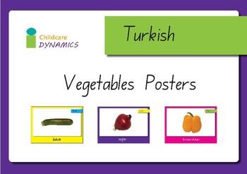 Vegetable Displays in Turkish