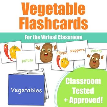Vegetable Flashcards for VIPKid & the Virtual ESL Classroom - Classroom Props