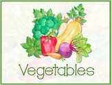 Vegetable Flash Cards or Word Wall Cards - English - Set of 19