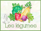 Vegetable Flash Cards or Word Wall Cards - French - Set of