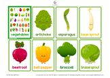 Vegetable Flashcard Set • 36 Cards • Upper and Lowercase •