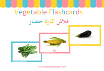 Vegetable Flashcards in Arabic