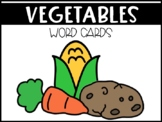 Vegetable Food Group Vocabulary Word Wall Picture Cards (ESL & SPED)