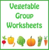 Vegetable Group Worksheets