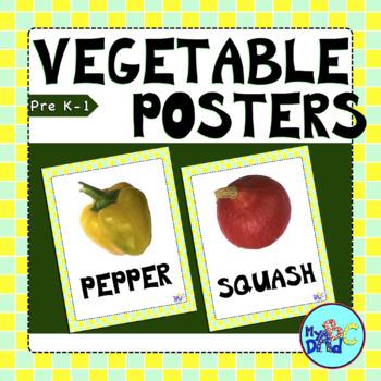 Vegetable | Légume Display POSTERS for Kids