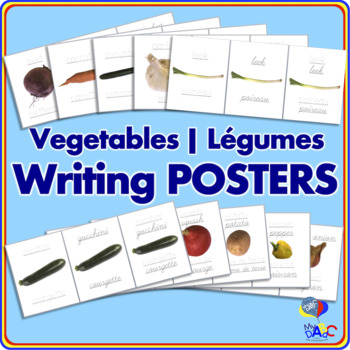 Vegetable | Légume Writing POSTERS for Kids
