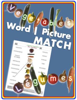Vegetables   Légumes Word-Picture MATCH