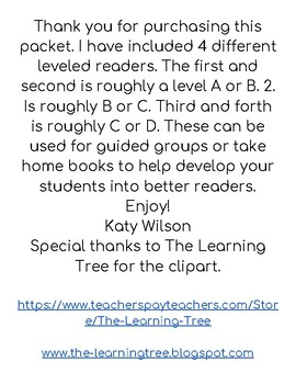 Vegetable Leveled Readers