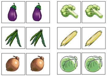 Vegetable Match-Up and Memory
