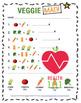 Vegetable Math: Basic Addition Worksheet- Adding Veggies Up- Health Lesson