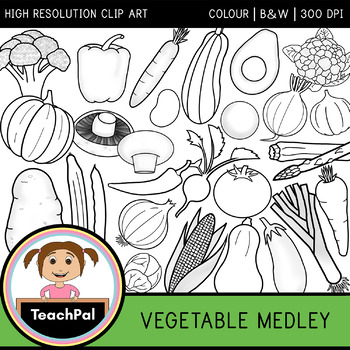 Vegetable Medley - Vegetable Clip Art - Food Groups