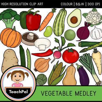 Vegetable Medley - Vegetable Clip Art - Food Groups