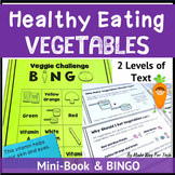 Healthy Eating and Nutritional Activities: Printable Vegetable Mini-Book | Bingo