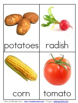 Vegetable Nomenclature 3 – Part Vocabulary Cards