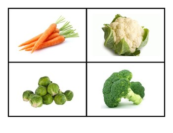 Vegetable Photo Flash Cards