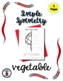 Vegetable - Simple Symmetry - Draw Color Trace - 5 pages