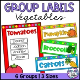 Vegetable Theme Group Labels