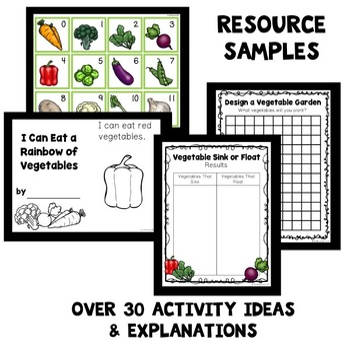 vegetable theme preschool lesson plans by eceducation101 tpt
