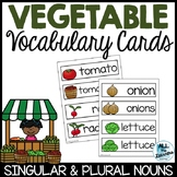 Vegetable Vocabulary Cards