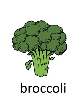 Vegetable Vocabulary Flashcards
