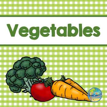 Vegetable Vocabulary Word Cards
