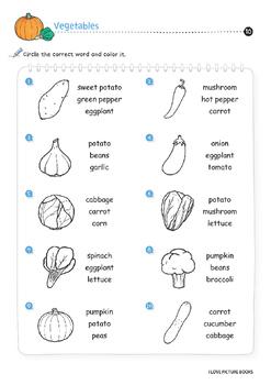 vegetable worksheets activities printables by worksheet design studio. Black Bedroom Furniture Sets. Home Design Ideas