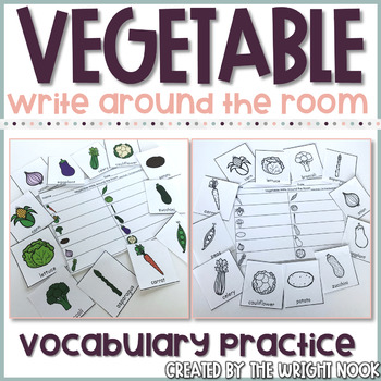 Vegetable Vocabulary Practice - Write the Room