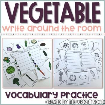 Vegetable Write Around the Room Fun