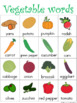 Vegetable Writing Center Tools: Health and Nutrition Words