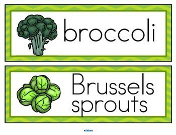 Vegetables Vocabulary Activities and Centers for Preschool and Kindergarten