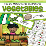 Vegetables Vocabulary Activities and Centers for Preschool