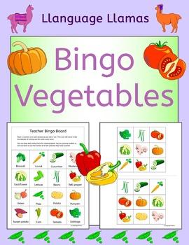 Vegetables Bingo for EFL ESL EAL MFL