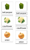 Vegetables (3-Part Montessori Cards)