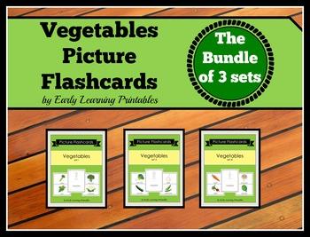Vegetables BUNDLE (Set I, II, III) Picture Flashcards