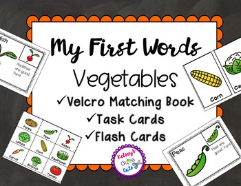 Vegetables Book, Task Cards and Flash Cards