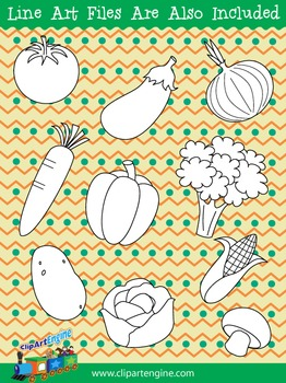 Vegetables Clip Art Collection