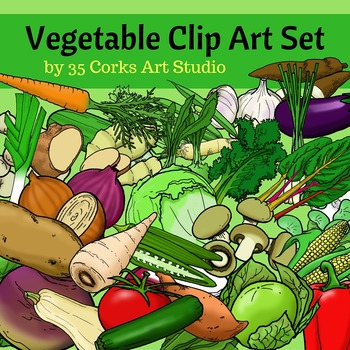 Vegetables Clip Art - 49 different vegetables! Yum!