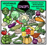 Vegetables Clip Art Bundle {Educlips Clipart}