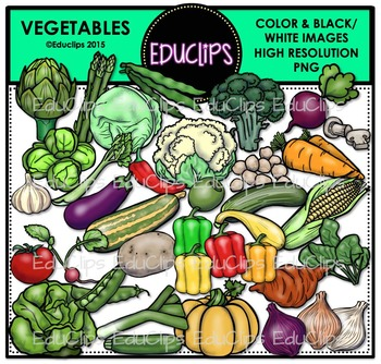 Vegetables Clip Art Bundle {Educlips Clipart}