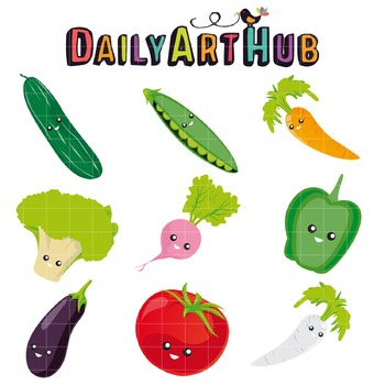 Vegetables Clip Art - Great for Art Class Projects!
