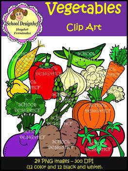 Vegetables Clip Art (School Designhcf)
