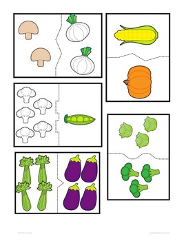 Vegetables Counting and Early Literacy (Tops and Bottoms inspired)